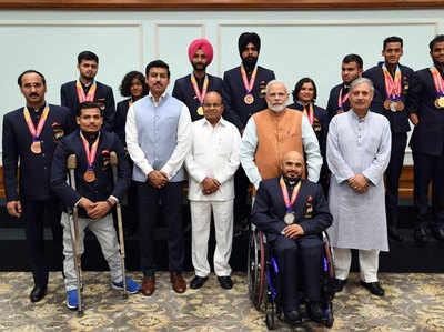 Image result for एशियाई पैरा खेलों के पदक विजेताओं को मंगलवार को नकद पुरस्कार किए प्रदान...