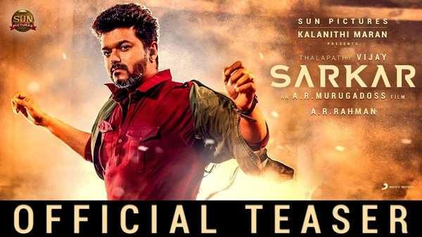 thalapathy vijay keerthy suresh and varalaxmi sarathkumar starrer sarkar official teaser released