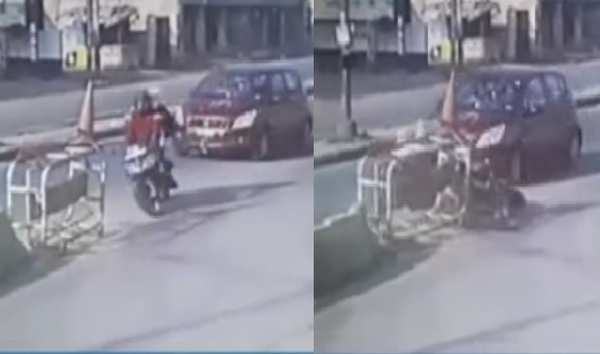 cctv footage of woman software employee crushed to death under car at uppal hyderabad
