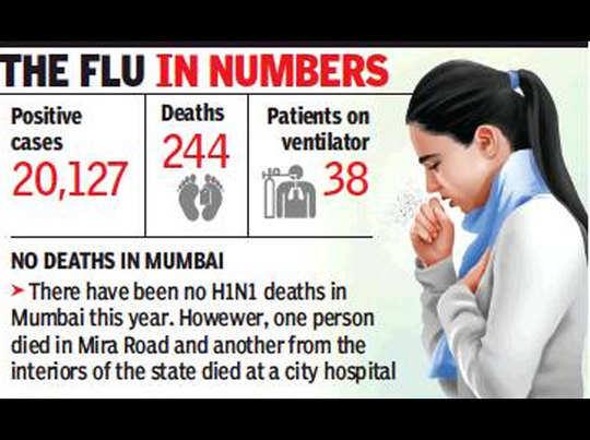 महाराष्ट्र: एचवनएनवन ने अक्टूबर महीने में छीनीं 75 जिंदगियां, वेंटिलेटर पर 38 लोग