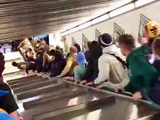 over 20 injured in rome metro station escalator accident