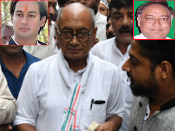 madhya pradesh elections 2018 congress fields digvijaya singhs son nephew and brother in polls