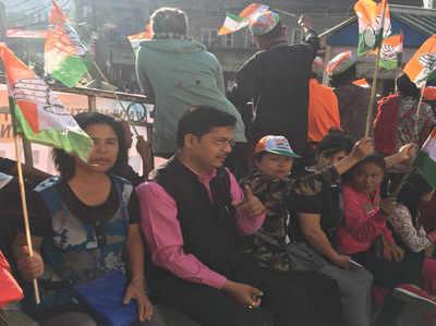 मिजोरम में कांग्रेस ने झोंकी ताकत।