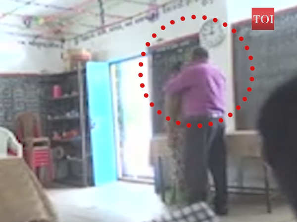 caught teachers kissing inside gujarat classroom