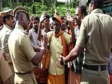 family stopped from entering temple for choroonu at pamba