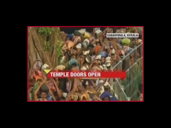 sabarimala reopens for a day amid heavy security