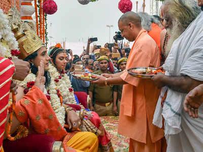 अयोध्या में यूपी के सीएम योगी आदित्यनाथ (फाइल)