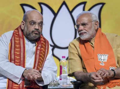 बीजेपी अध्यक्ष अमित शाह के साथ प्रधानमंत्री नरेंद्र मोदी