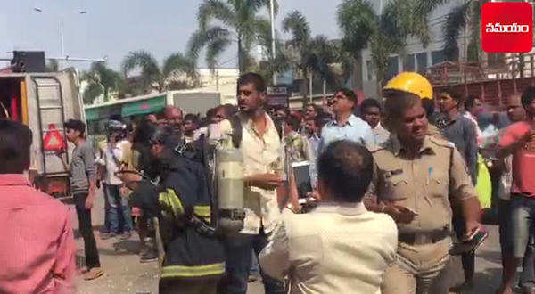 fire accident at shah ghouse restaurant at gachibowli