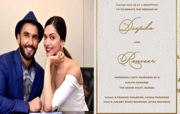 देखें: दीपिका पादुकोण-रणवीर सिंह का वेडिंग रिसेप्शन कार्ड