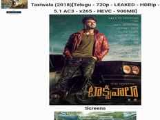 taxiwaala full hd movie leaked by tamilrockers days before release