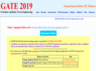gate 2019 exam city correction started check gate iitm ac in