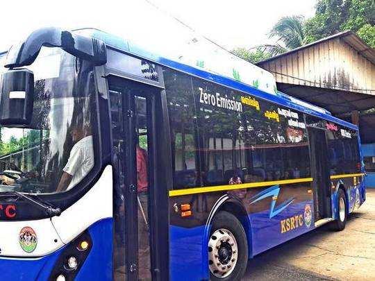 electric bus.