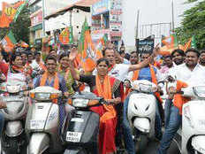 bjp s kamal sandesh bike rally in ghaziabad 10 thousand workers will participate