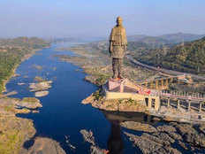 this is how statue of unity looks like from space