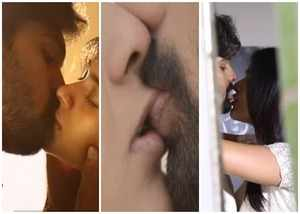 hebah patels lip locks show 24 kisses making video is out