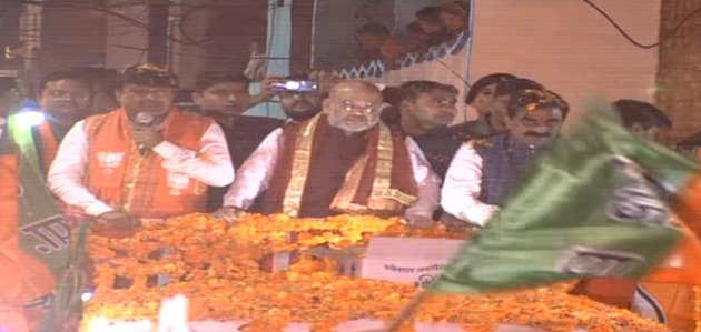 मध्यप्रदेश चुनाव: बीजेपी अध्यक्ष अमित शाह ने मैहर में किया रोड शो