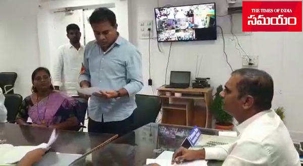 ktr files his nomination in sircilla