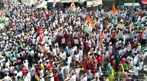 revanth reddy rally in kodangal before nomination