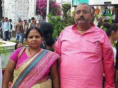पति दिलीप वर्मा के साथ बीजेपी विधायक माधुरी वर्मा