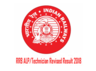 rrb alp technician revised result may come at any time check rrbcdg gov in
