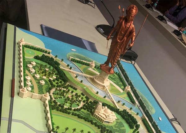 प्रतिमा के पेडेस्टल में दिखेगा इक्ष्वाकु वंश का पूरा इतिहास