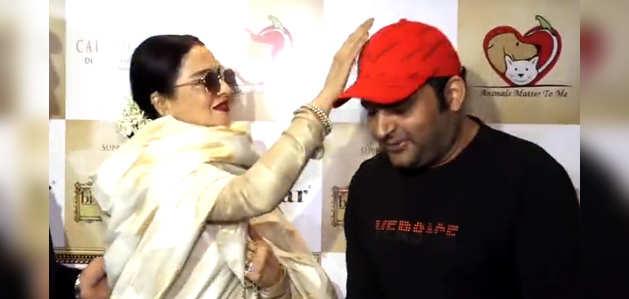 कपिल शर्मा को शादी से पहले अभिनेत्री रेखा ने दिया आशिर्वाद
