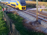 netherlands cyclist did not see coming train narrowly escaped