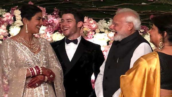 priyanka chopra nick jonas wedding reception pm modi congratulates couple