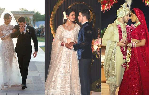 बॉलीवुड सेलेब्स प्रियंका चोपड़ा-निक जोनस की शादी की तस्वीरों से प्रभावित