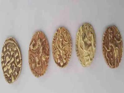 बरामद हुए सोने के सिक्के