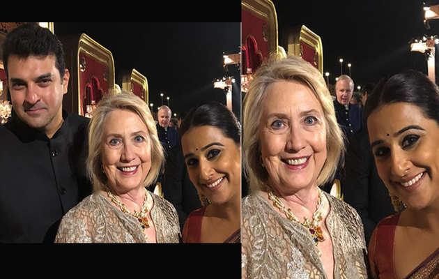जब विद्या बालन ने हिलेरी क्लिंटन के साथ शेयर की खास फोटो