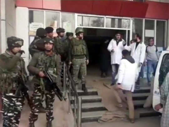 Jammu kashmir : चौकीवर दहशतवादी हल्ला, ४ पोलीस शहीद
