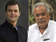 chhattisgarh vidhansabha chunav natije 2018 bhupesh baghel gives credit to congress president rahul gandhi