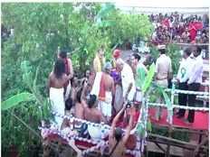 maha kumbhabhishekam celebrated at jambukeswarar temple at thiruvanaikaval