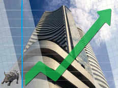 nifty above 10800 sensex gains over 200 pts
