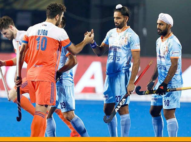 क्वॉर्टर फाइनल में नीदरलैंड्स ने भारत को हराया।