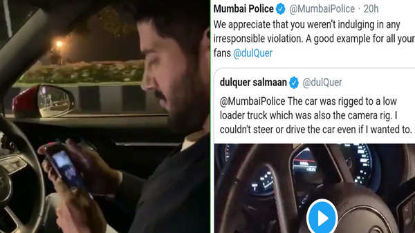mumbai police wrongly calls out dulquer salman and sonam kapoor for doing stunts while driving