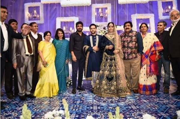 saina nehwal and parupalli kashyap wedding reception held in hyderabad