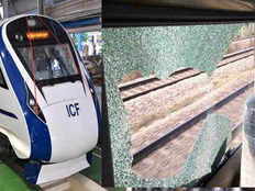 stone pelting on train 18 during trial run before flag off