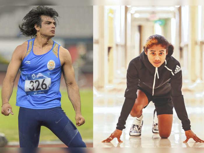 Neeraj-Chopra-and-hima-das