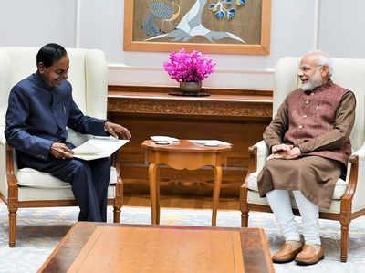 प्रधानमंत्री नरेंद्र मोदी के साथ के चंद्रशेखर राव