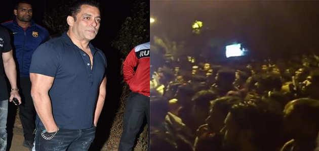देखें, सलमान खान को बर्थडे विश करने के लिए घर के बाहर जुटी भीड़