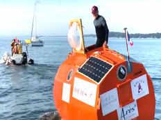 frenchman sets sail across atlantic in a barrel