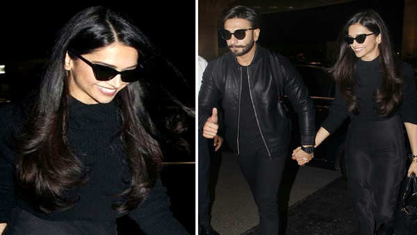 newlyweds ranveer singh and deepika padukone head out for their honeymoon
