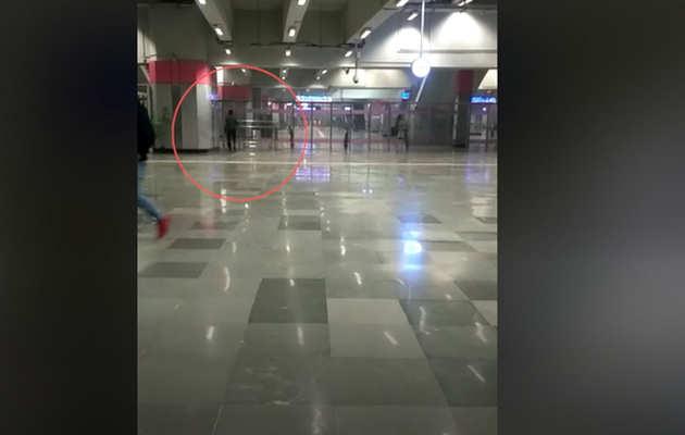 मेट्रो स्टेशन पर बिना सुरक्षा जांच सुरक्षा जांच के घुसा शख्स, सामने आया विडियो