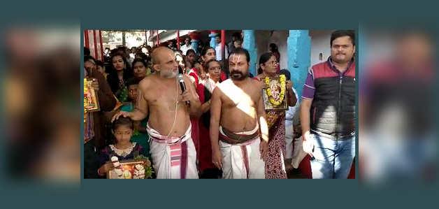 हैदराबाद: श्रद्धालुओं ने सबरीमाला मंदिर की परंपराओं के समर्थन में की परिक्रमा