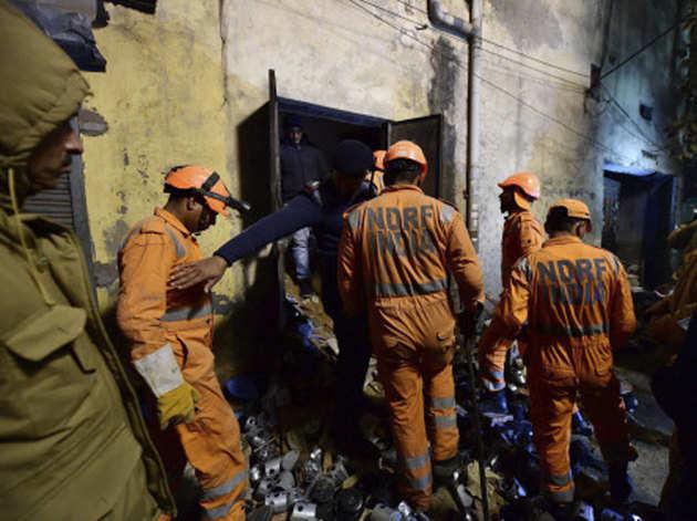 NDRF की टीम ने रात भर किया राहत कार्य
