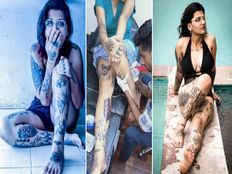 mumbai girl tejasvi prabhulkar sets a record by getting 103 tattoos on her body