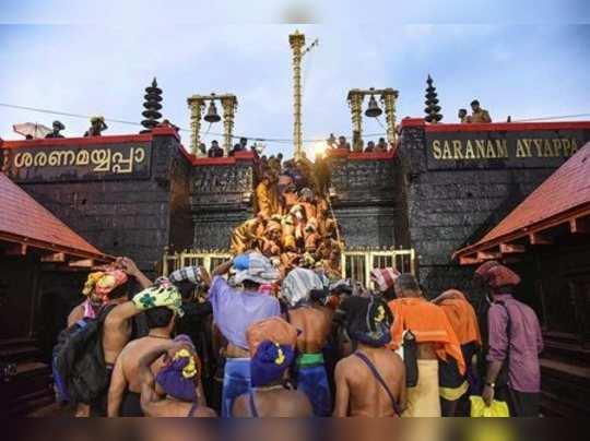 Sabarimala: Devotees enter the Sabarimala temple as it opens amid tight security...